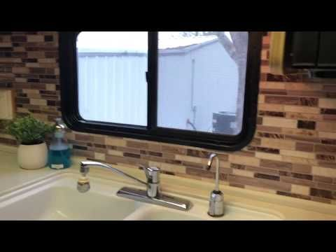 Peel and Stick Backsplash RV kitchen YouTube
