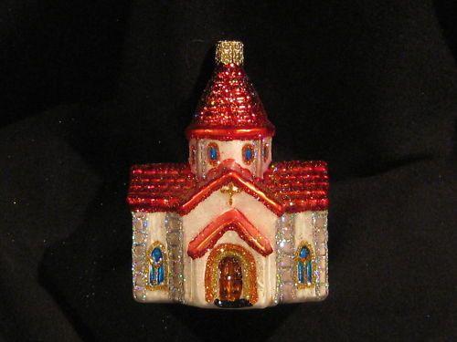 ROMANESQUE CHURCH MERCK OLD WORLD CHRISTMAS ORNAMENT eBay