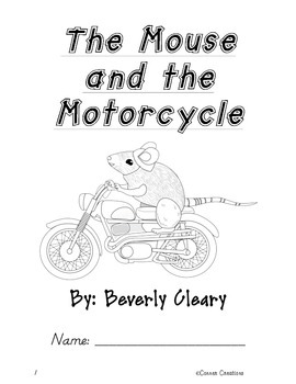 The Mouse and the Motorcycle Comprehensive Novel Study