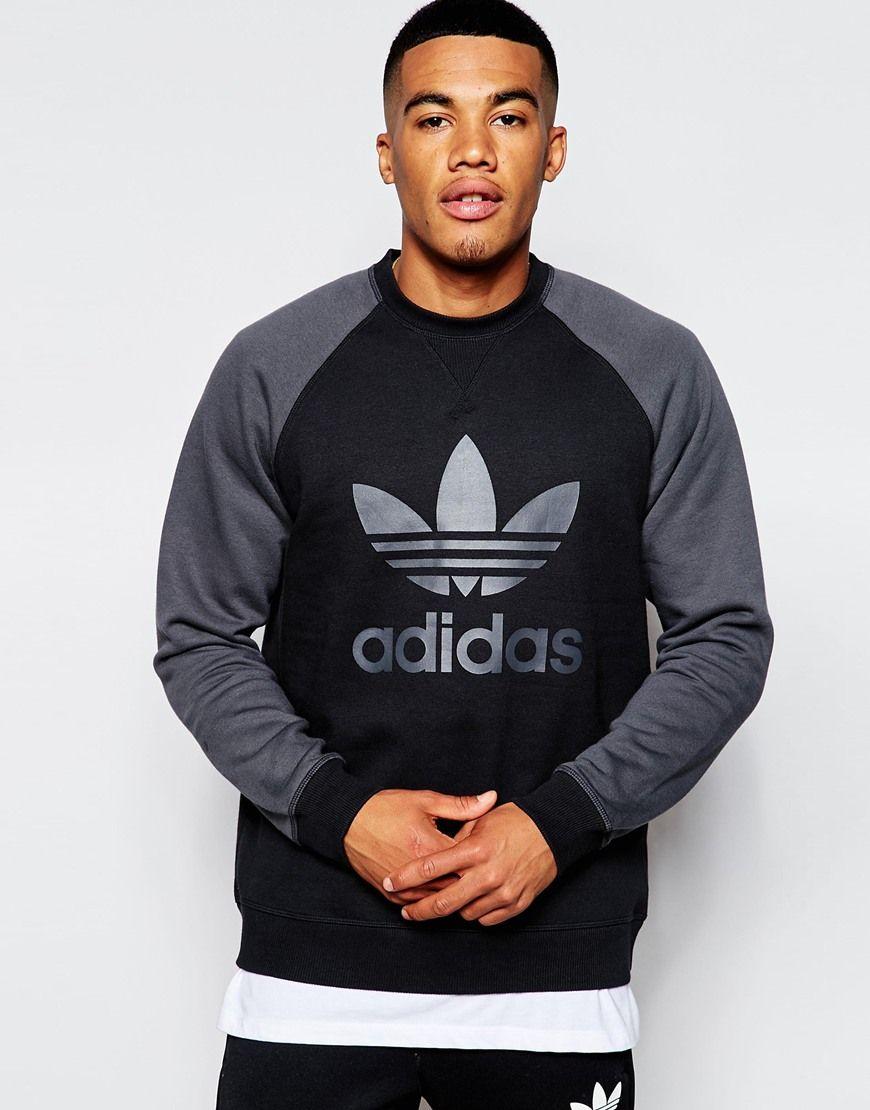Adidas Originals Trefoil Sweatshirt Ab7598 At Asos Com Sweatshirts Mens Sweatshirts Hoodie Sweatshirts Hoodie [ 1110 x 870 Pixel ]