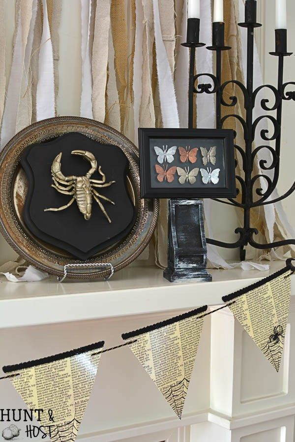 Gilded Bugs Display Case Dollar Store Halloween Decorations - halloween cheap decorations