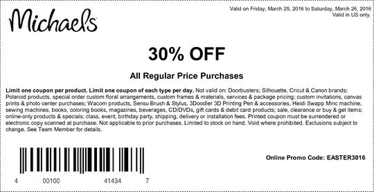 Michaels Coupon 30 Off Entire Purchase Groupon Michaels Coupon Coupons Hobby Lobby Coupon