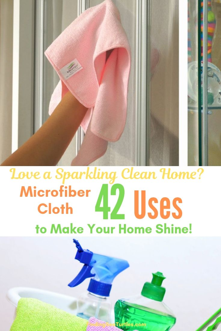 Love A Sparkling Clean Home_ Microfiber Cloth 42 Uses To Make Your Home Shine! #Microfiber #Cleaning #BudgetFriendly #Affordable #HouseCleaning #SaveMoney #SaveTime