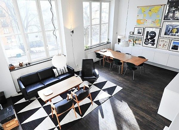 Black & White Contemporary Loft in Stockholm, Sweden