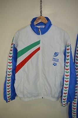 0ec29adb6a1010 Vintage 80s FILA Spellout Windbreaker Jacket in 2019 Track suits