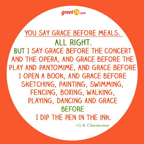 You Say Grace Before Meals All Sayings Saying Grace Quotations