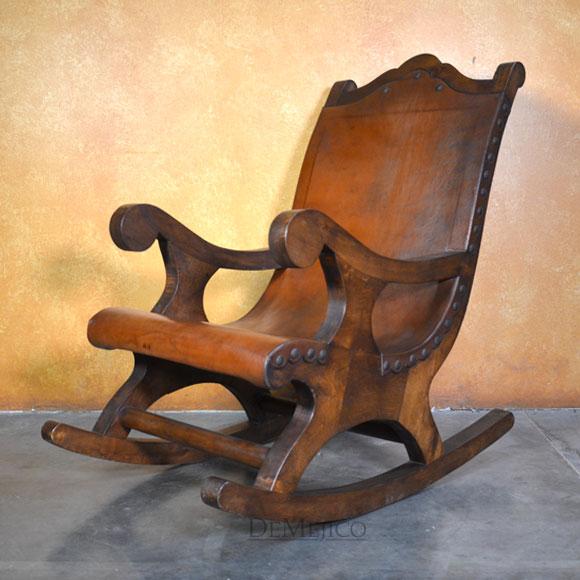 Large Salyulita Rocking Chair Spanish Rocking Chair Demejico In 2020 Rocking Chair Mexican Chairs Rustic Dining Chairs