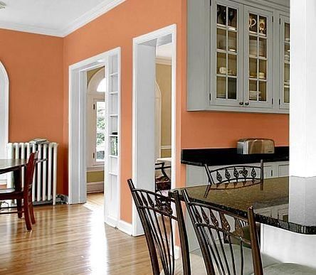 Kitchen wall paint colors ideas terracotta with gray for Kitchen wall color ideas