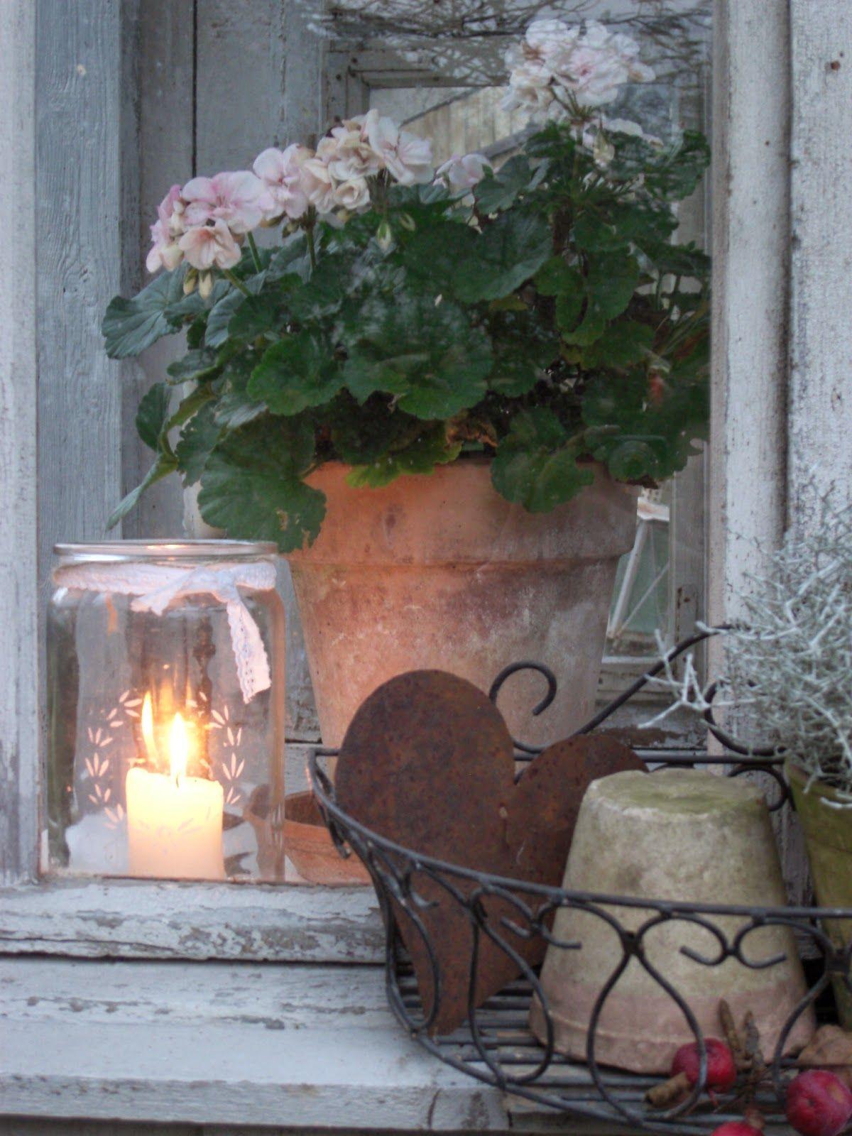 Herbstzeit Herbst dekoration, Gartendekor, Fensterbank