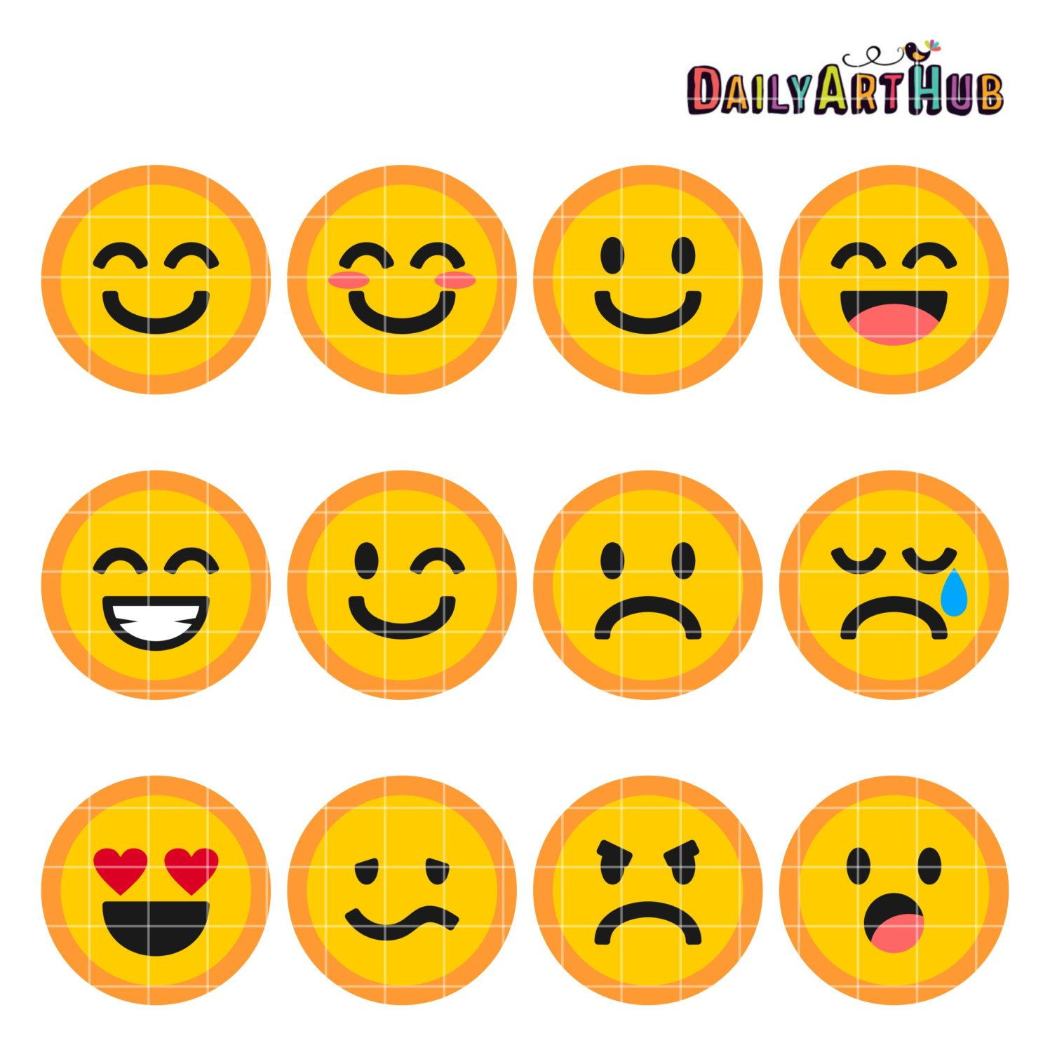 Emoticons Collage Clip Art Emoticons Symbols Clipart Emoticons Text