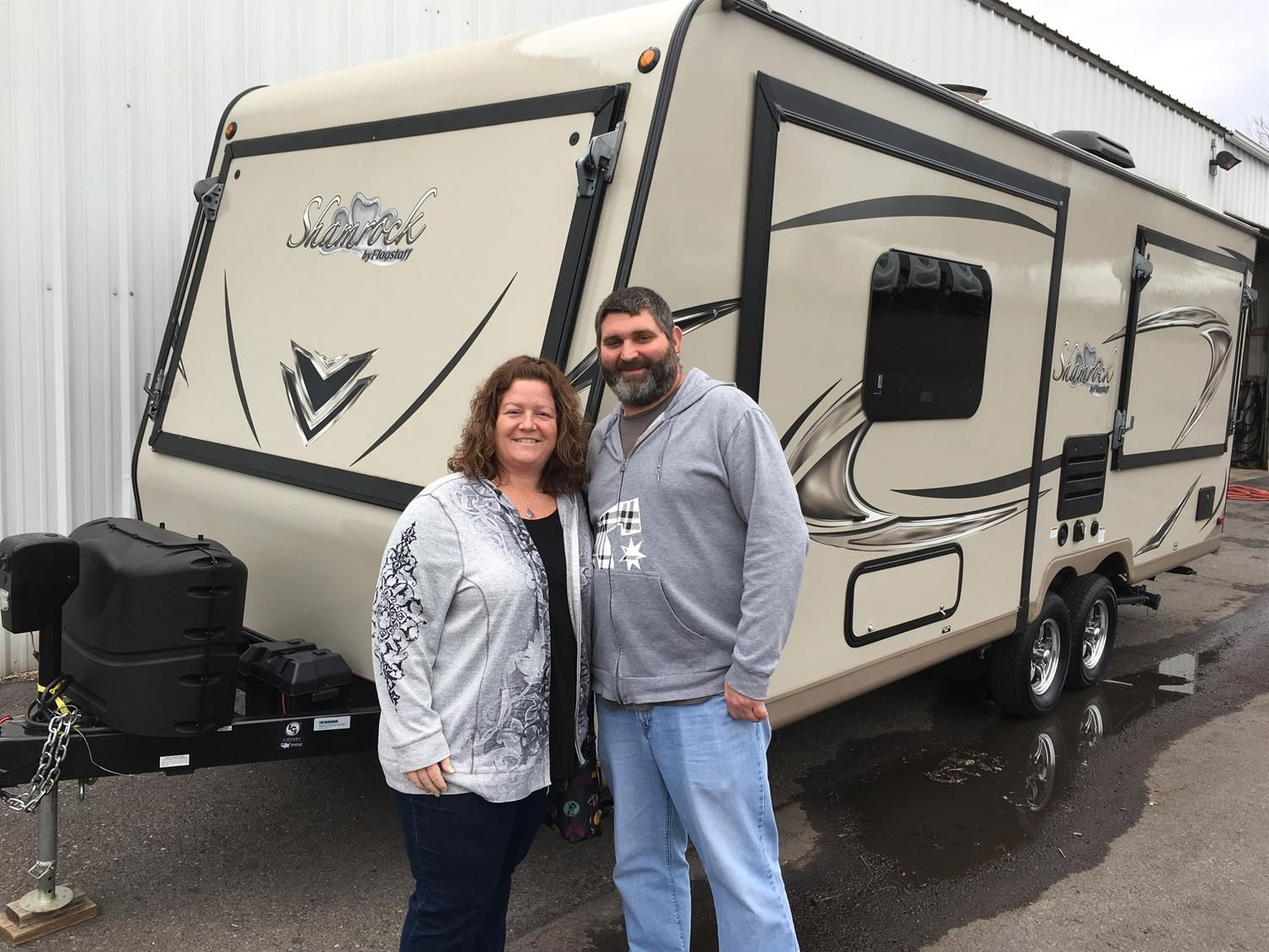 Eric And Shannon We Hope You Enjoy Your New 2018 Forest River Shamrock Congratulations An Congratulations And Best Wishes Recreational Vehicles Forest River