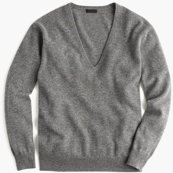 J.Crew Collection Cashmere Boyfriend V-Neck Sweater ($310 ...
