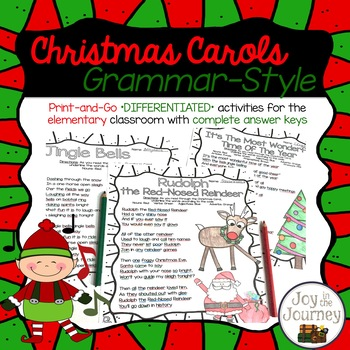 Quot Christmas Carols Grammar Style Quot Is A Fun And Festive Holiday Activi Classroom Christmas Activities Christmas Writing Christmas Literacy Activities