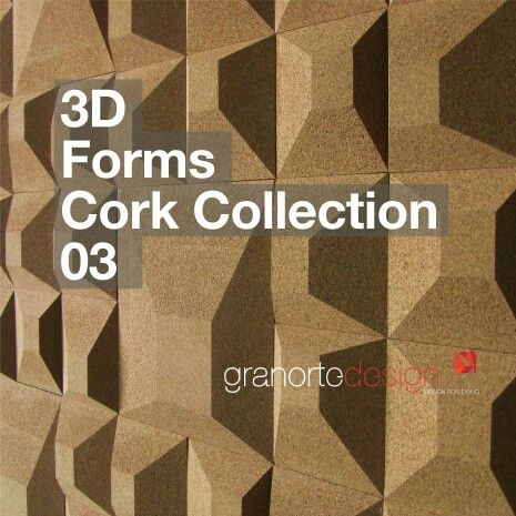 3D cork wall covering. By Granorte
