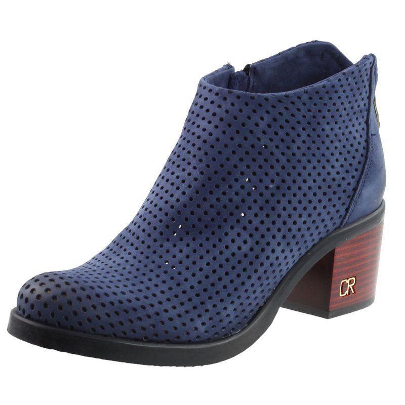Botki Damskie Carinii B3016 Granatowe K59 Buty Damskie Botki Nieocieplane Wiosenne Chelsea Boots Boots Shoes