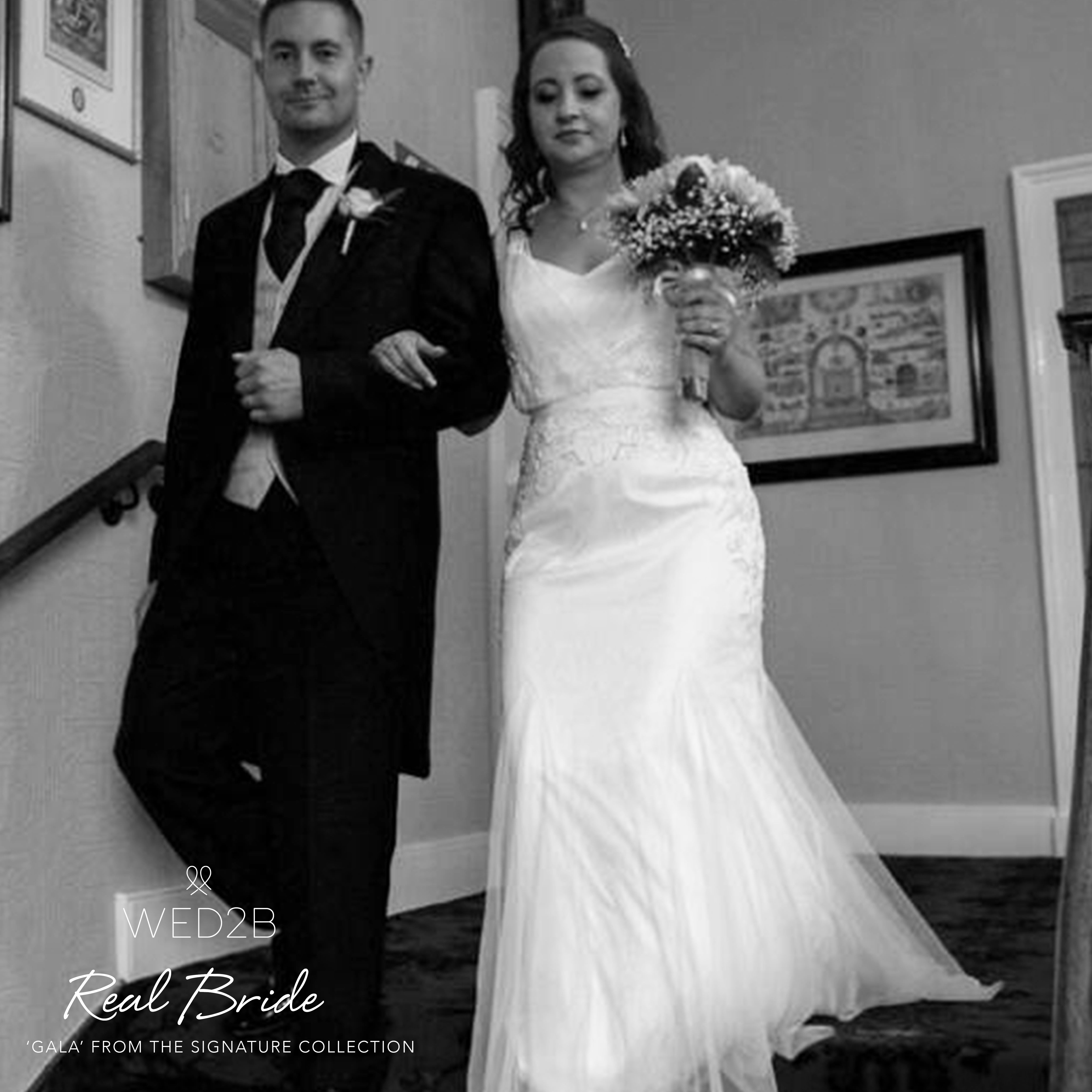 Real Brides Wed2b: Beautiful Real Bride Joanne In Our Signature Collection