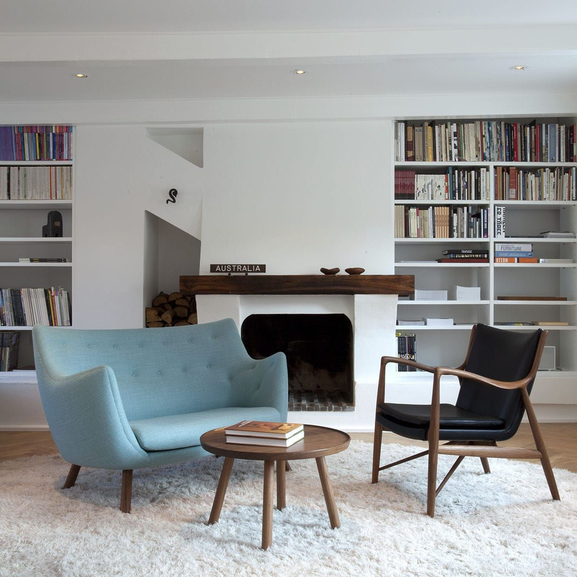 Scandinavian Design Sofa Wood Fabric By Finn Juhl Poet One Collection