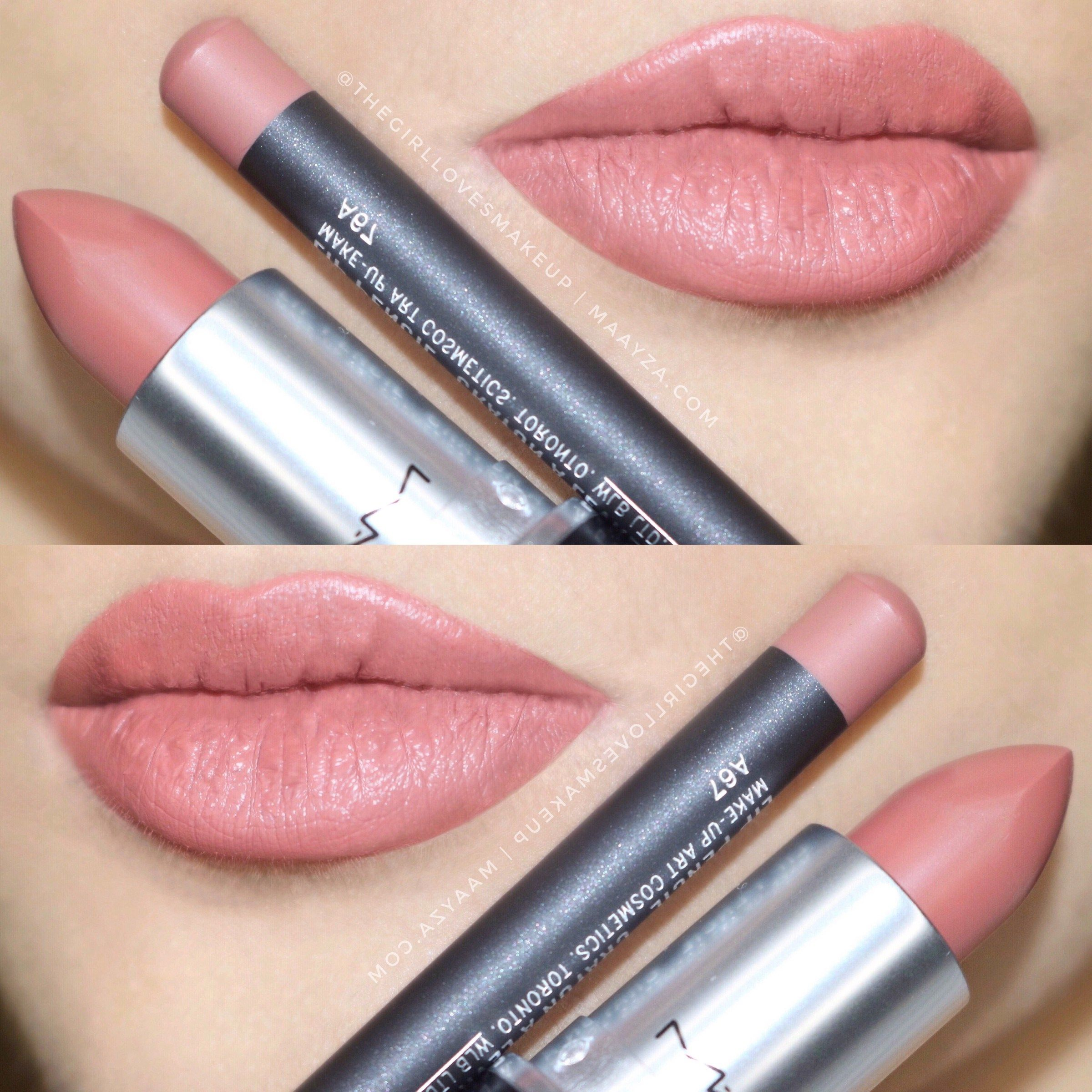 mac cosmetics boldly bare lip pencil liner and velvet