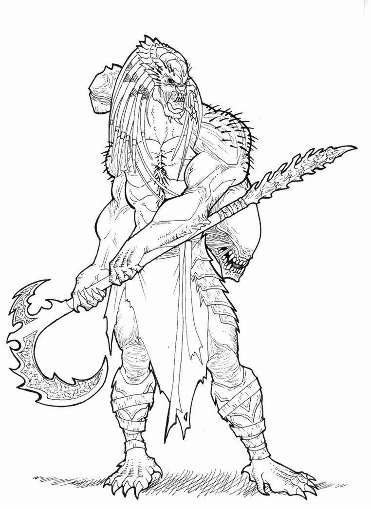 Warrior Predator By Ronniesolano On Deviantart Predator Alien Art Predator Art Coloring Book Art