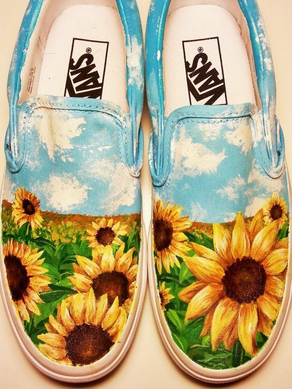 c75375e0654a Custom Sunflower shoes in 2019