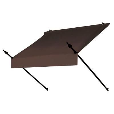 Awnings In A Box 4 Ft Designer Awning Replacement Cover In Cocoa 3020872 The Home Depot Door Awnings Window Awnings Retractable Awning
