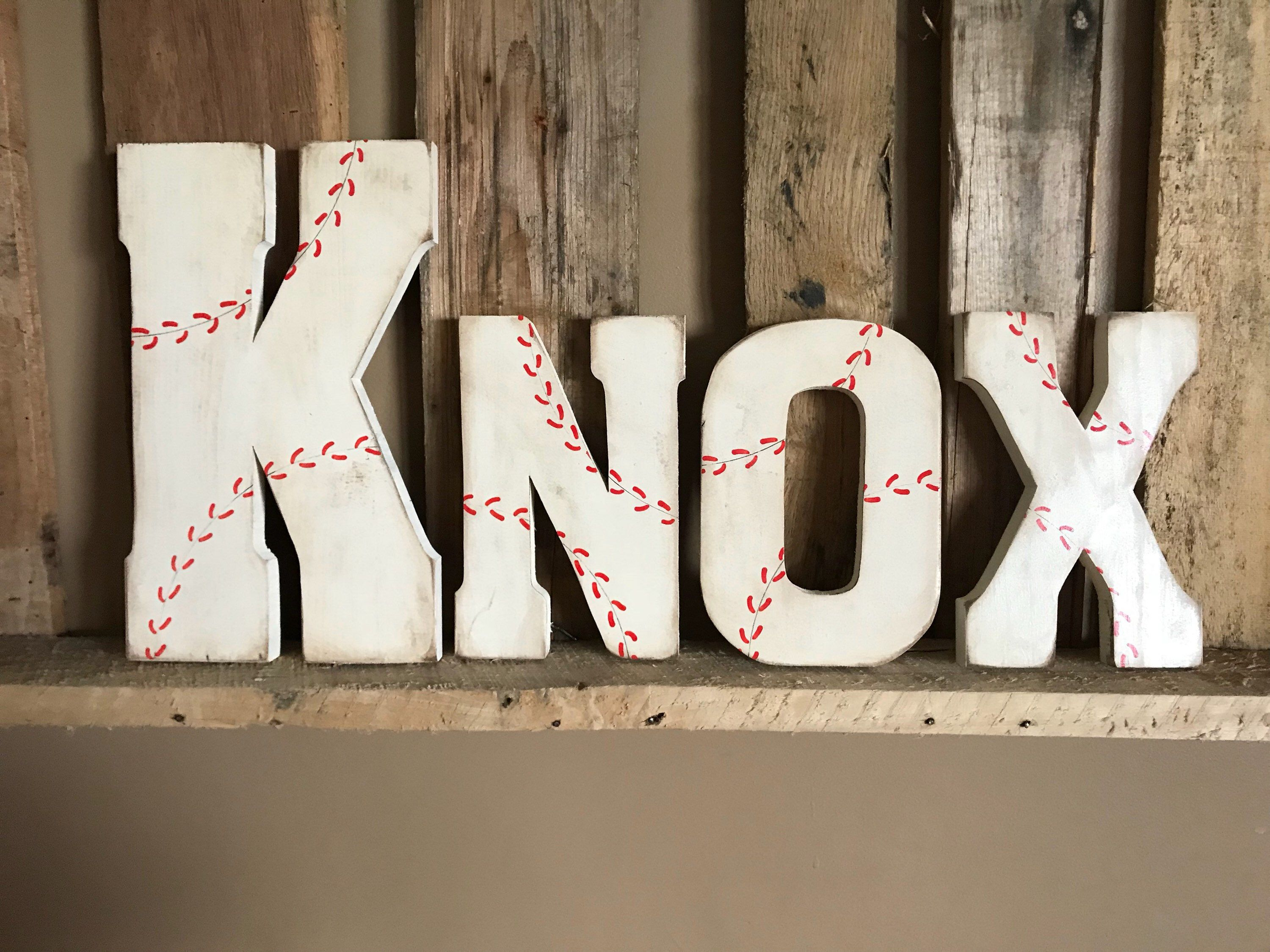 personalized letter pin baseball wall room sign baby shower decor