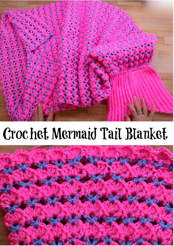 Mermaid tail blanket | Crochet | Pinterest | Croché para ...