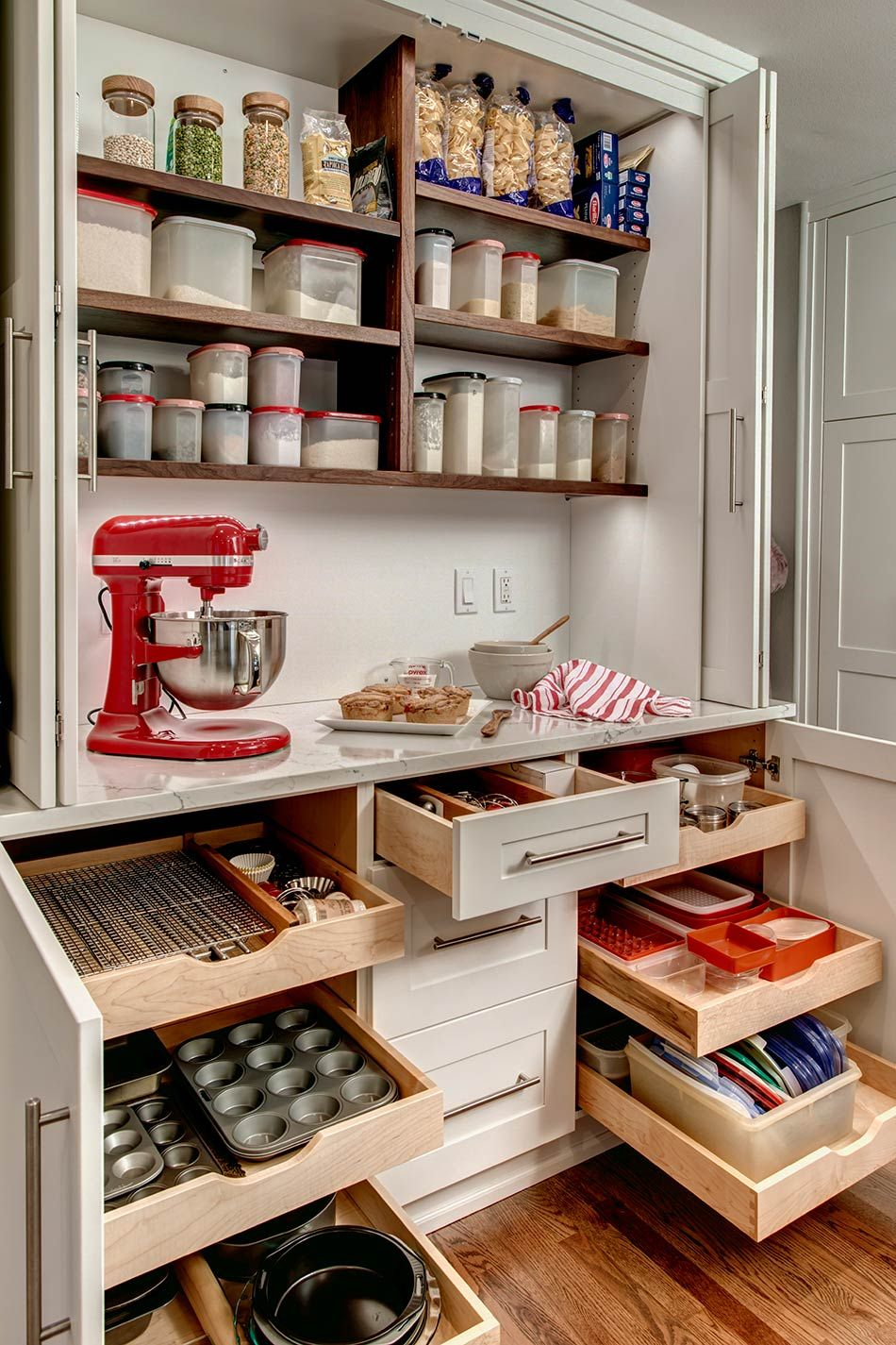 Kitchen Microwave Storage Ideas