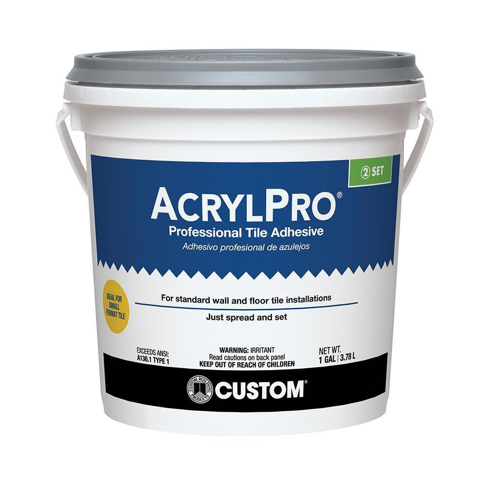 Custom Building Products Acrylpro 1 Gal Ceramic Tile Adhesive Arl40001 Adhesive Tiles Mosaic Wall Tiles Tiles