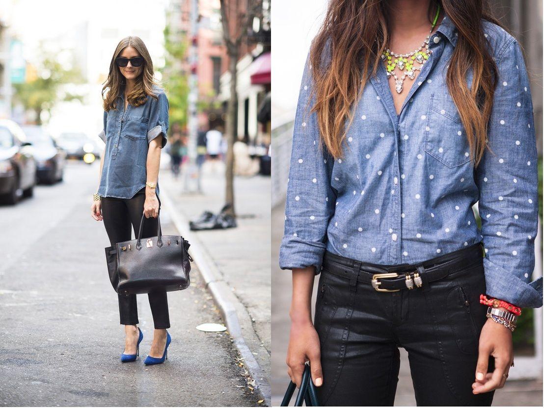 Campera de jeans con una camisa queda súper | Outfits