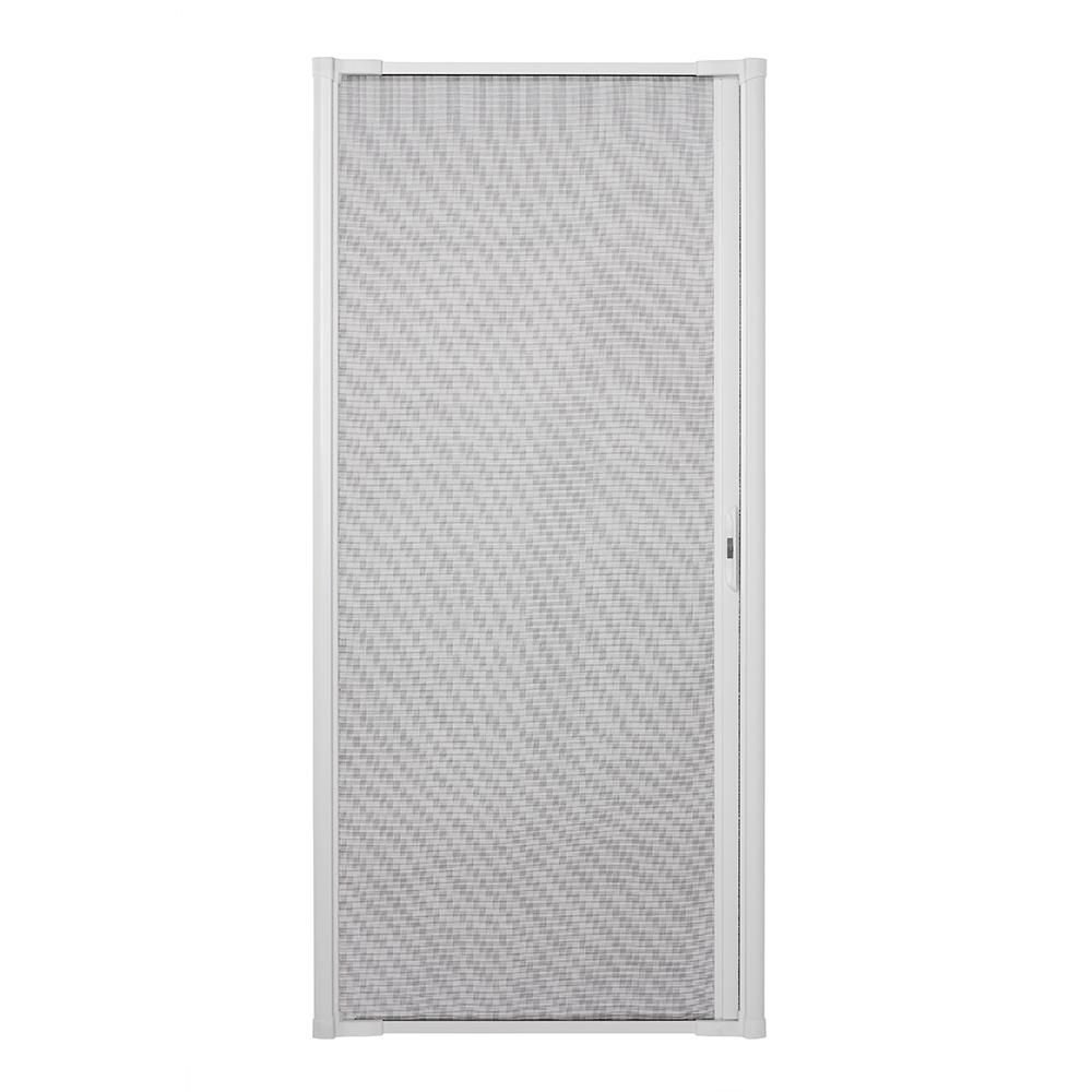 Andersen 36 In X 80 In Luminaire White Retractable Screen Door 90001 The Home Depot Retractable Screen Door Screen Door Retractable Screen