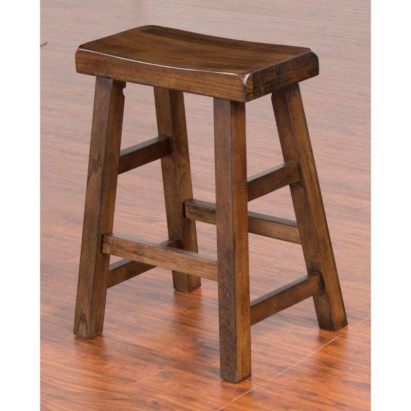 Saddle Seat Counter Height Stool 24 Inch Santa Fe En 2020