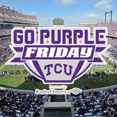 It's the last Go Purple Friday of the season! Paint the town purple!