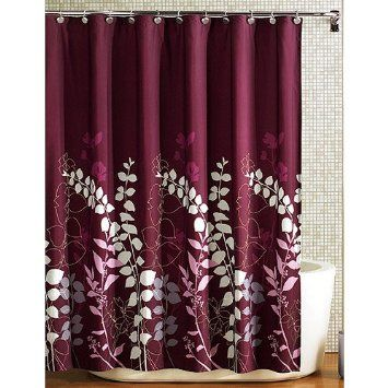Amazon Com Burgandy Maroon Purple Vine Leaf Nature Fabric Shower