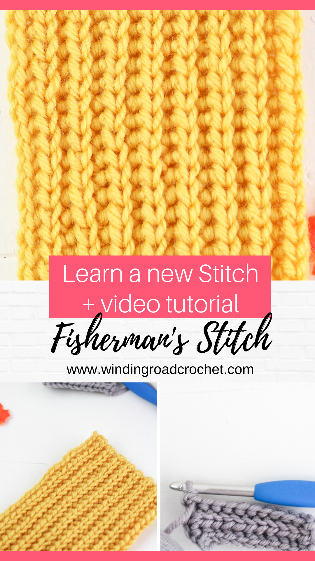 How to Crochet the Fisherman's Stitch