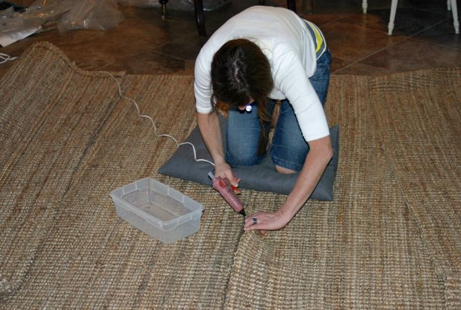 How To Attach Two Ikea Seagr Rugs Together