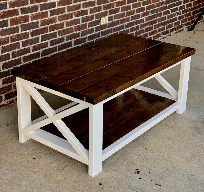 Farmhouse Coffee Table Sets 7