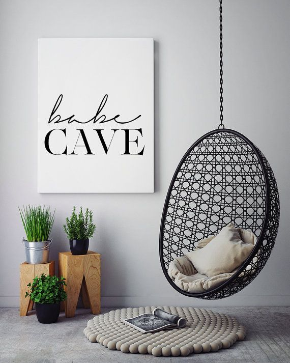 Babe Cave Wall Art Bedroom Poster Printable Poster by PxlNest ...