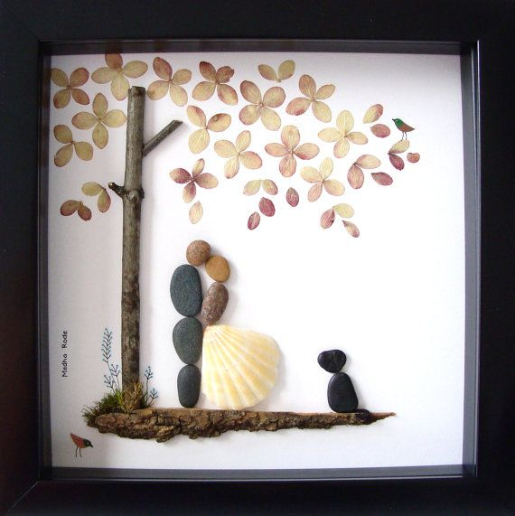 Wedding Gift Pebble Art Unique Engagement Personalized Present And Dog Bride Groom