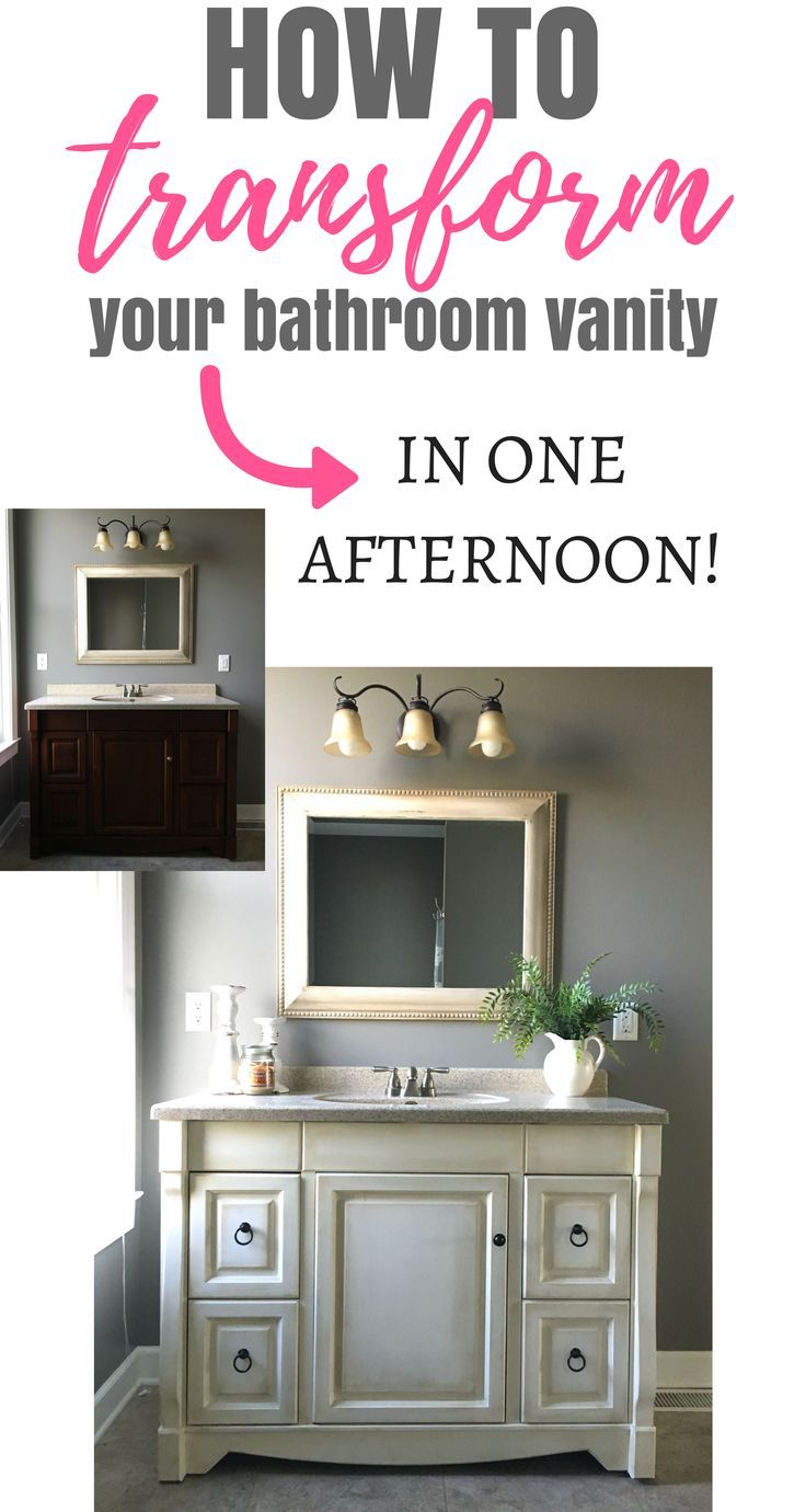 How to Paint your Bathroom Vanity-The Fast Way | Dark wax, Annie ...