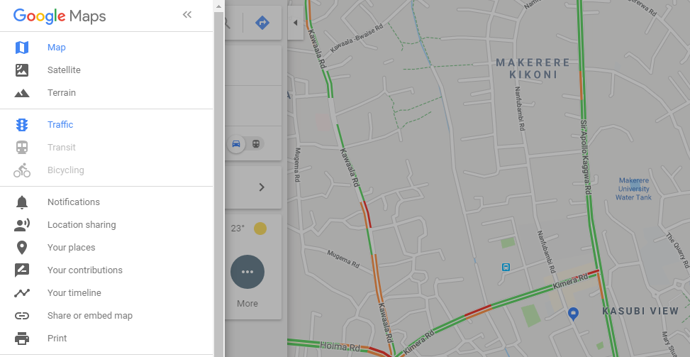 How to check traffic to work or Home using Google Maps