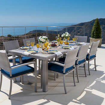 Wondrous Portofino 9 Piece Dining In Laguna Blue The Next Backyard Download Free Architecture Designs Jebrpmadebymaigaardcom