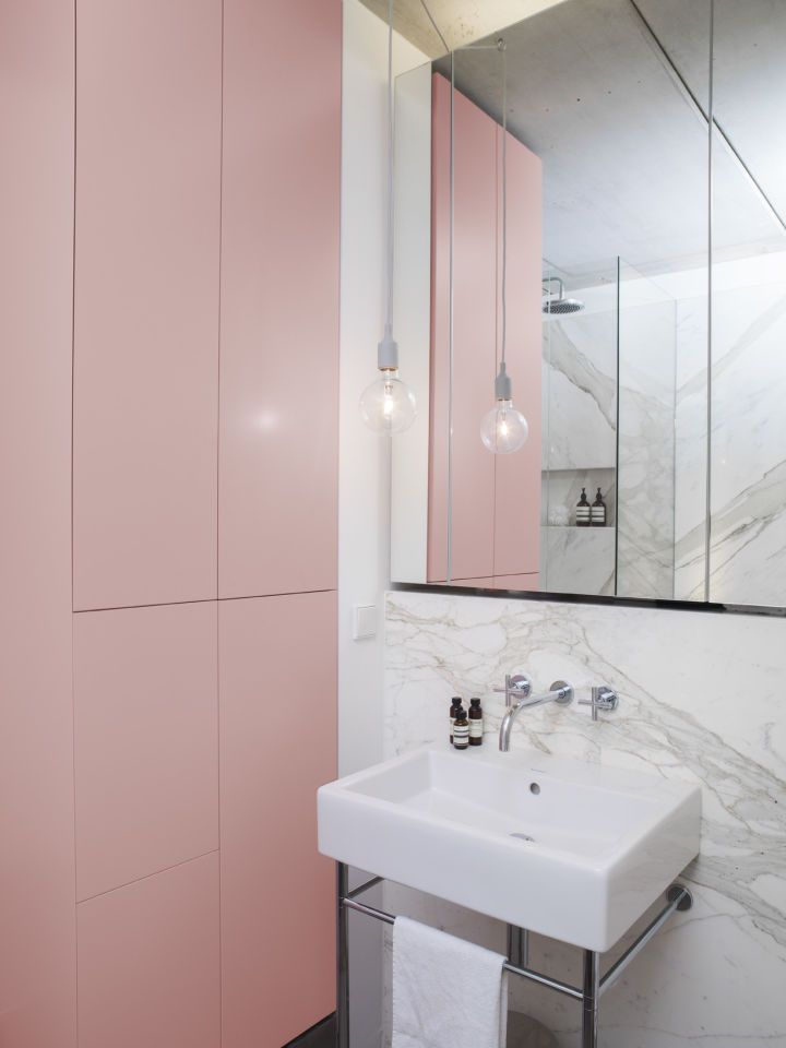 Esters Apartment Berlin Germany Berlin Apartment Pink Cabinets Bathroom Interior