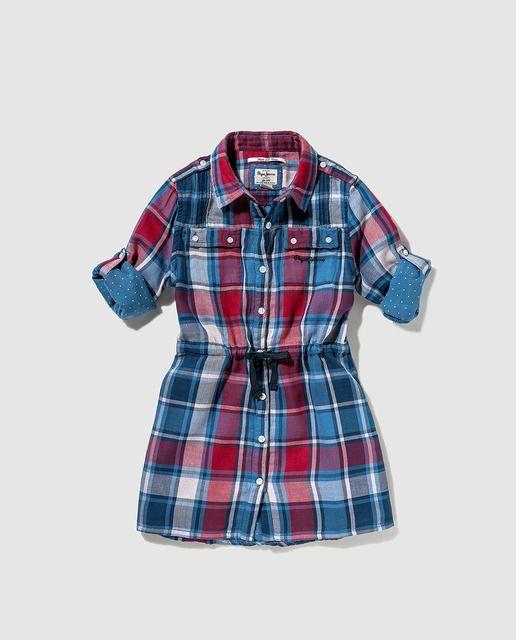 Vestido de niña Pepe Jeans con estampado de cuadros. Encuentra este Pin y  muchos más en ROPA INFANTIL ... 1f72ef7df2d