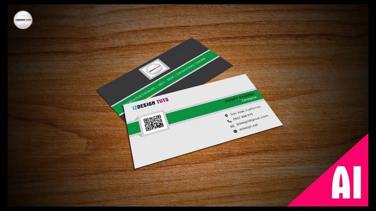 How to create business card design in illustrator bangla tutorial ...