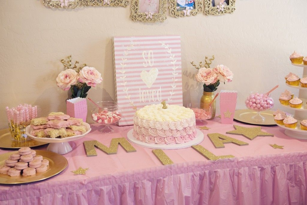 Miss Mila's First Birthday Party! Pink & Gold Twinkle