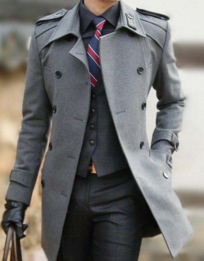 60 variants pour porter le manteau pour homme avec du style!   Men ... 786f6dd75c32