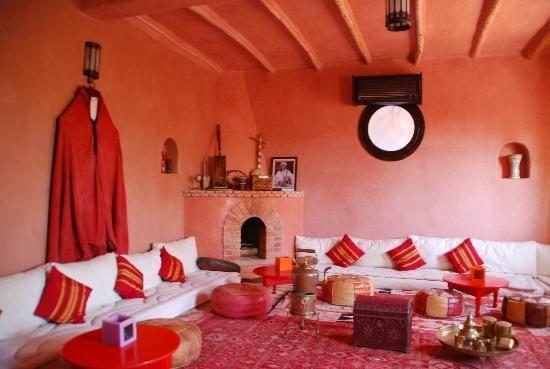Pink living room in the Riad Atlas Kasbah in Agadir, Morocco | Pink ...
