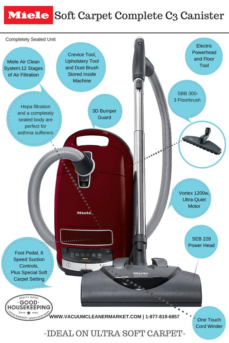 Miele Soft Carpet C3 Complete Vacuum Cleaner Miele