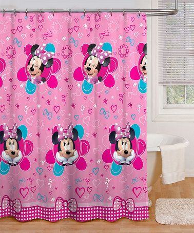Love This Minnie Mouse Fuschia Hearts Shower Curtain On Zulily